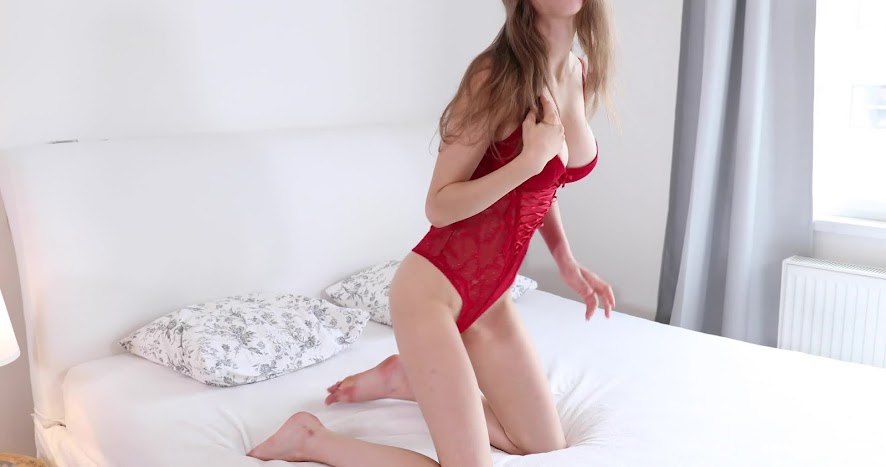 [TD] 2018-02-26 Mila Azul - Red Body Suit [1080p]